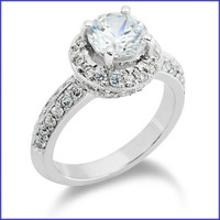Gregorio 18K WG Diamond Engagement Ring R-1381