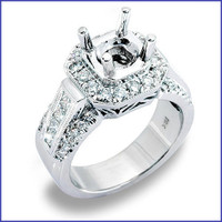 Gregorio 18K WG Diamond Engagement Ring R-1386