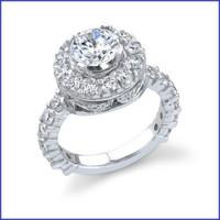 Gregorio 18K White Engagement Diamond Ring R-181