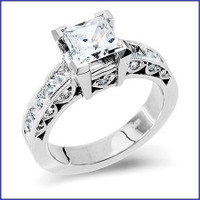 Gregorio 18K WG Diamond Engagement Ring R-188