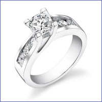 Gregorio 18K WG Diamond Engagement Ring R-190-2