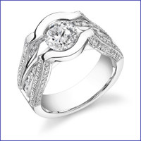 Gregorio 18K WG Diamond Engagement Ring R-197-1