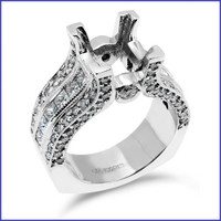 Gregorio 18K White Engagement Ring R-207
