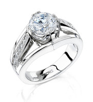 Gregorio 18K WG Diamond Engagement Ring R-226