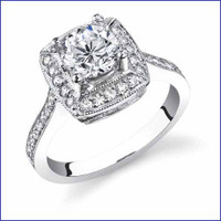 Gregorio 18K WG Diamond Engagement Ring R-238-1