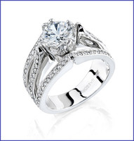 Gregorio 18K WG Diamond Engagement Ring R-239
