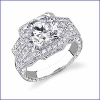 Gregorio 18K WG Diamond Engagement Ring R-2419