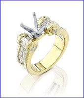 Gregorio 18K Yellow Gold Diamond Engagement Ring R-2649