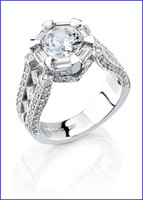 Gregorio 18K WG Diamond Engagement Ring R-272