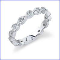 Gregorio 18K White Engagement Diamond Band R-281