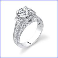 Gregorio 18K White Engagement Ring R-290
