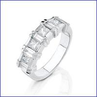 Gregorio 18K WG Solid Ladies Diamond Ring R-3018