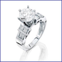 Gregorio 18K WG solid Ladies Diamond Engagement Ring R-3021