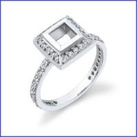 Gregorio 18K WG Diamond Engagement Ring R-309