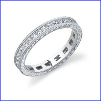 Gregorio 18K WG Diamond Engagement Band R-320