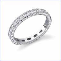 Gregorio 18K WG Diamond Engagement Band R-320-1