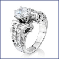 Gregorio 18K WG Diamond Engagement Ring R-3231