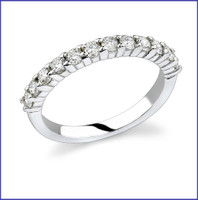 Gregorio 18K White Diamond Band R-325
