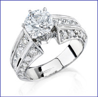 Gregorio 18K WG Diamond Engagement Ring R-3252