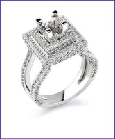 Gregorio 18K White Engagement Ring R-330N
