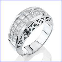 Gregorio 18K WG Ladies Diamond Ring R-3441