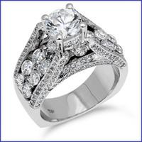 Gregorio 18K WG Diamond Ring R-354