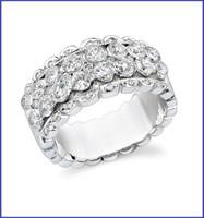 Gregorio 18K WG Diamond Engagement Band R-357