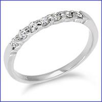 Gregorio 18K WG Diamond Engagement Band R-358