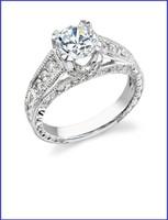 Gregorio 18K WG Diamond Engagement Ring R-374-3
