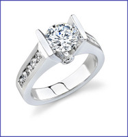 Gregorio 18K WG Diamond Engagement Ring R-376