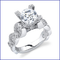 Gregorio 18K WG Diamond Engagement Ring R-391