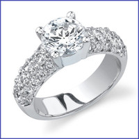 Gregorio 18K WG Diamond Engagement Ring R-397