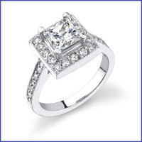 Gregorio 18K WG Diamond Engagement Ring R-399