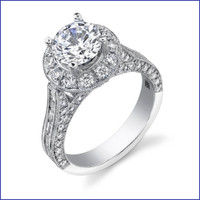 Gregorio 18K WG Diamond Engagement Ring R-408