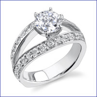 Gregorio 18K WG Diamond Engagement Ring R-409