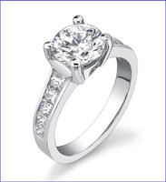 Gregorio 18K WG Diamond Engagement Ring R-422