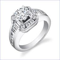 Gregorio 18K WG Diamond Engagement Ring R-437