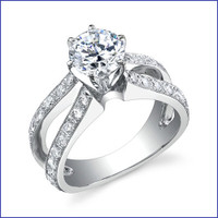 Gregorio 18K WG Diamond Engagement Ring R-453