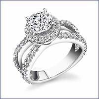 Gregorio 18K WG Diamond Engagement Ring R-466-1