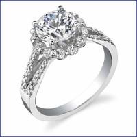 Gregorio 18K WG Diamond Engagement Ring R-468-1