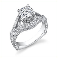 Gregorio 18K WG Diamond Engagement Ring R-500