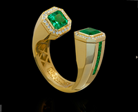 Mousson Atelier New Classic Collection Gold Emerald Ring R0055-0/3