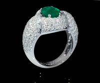 Mousson Atelier New Classic Collection Gold Emerald Ring R0064-0/1