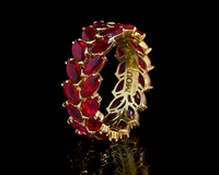 Mousson Atelier New Classic Collection Gold Ruby Ring R0080-0/1
