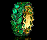 Mousson Atelier New Classic Collection Gold Emerald Ring R0080-0/2