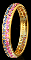 Mousson Atelier Dorojka Collection Gold Sapphire Ring R0102-0/13