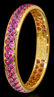 Mousson Atelier Dorojka Collection Gold Pink Sapphire Ring R0102-0/37
