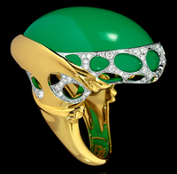 Mousson Atelier New Age Gold Chrysoprase Ring R0137-0/2