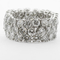 7.03ct G/VS Diamond Ring SER16809