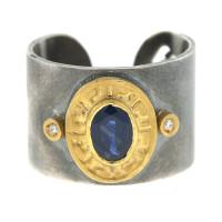 Herco Rings Silver-18KT-24KT Ring Sapphire SVKURG55BD